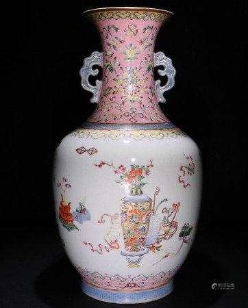 清代珐琅彩花瓶