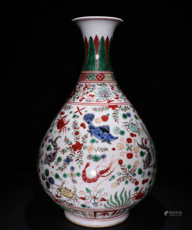 明代玉壶春瓶