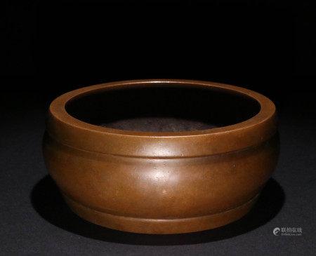 清代铜胎香炉