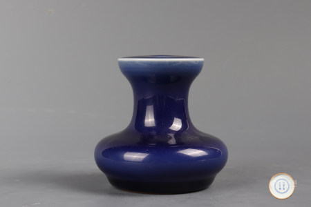 Chinese Blue Glazed Porcelain Bottle