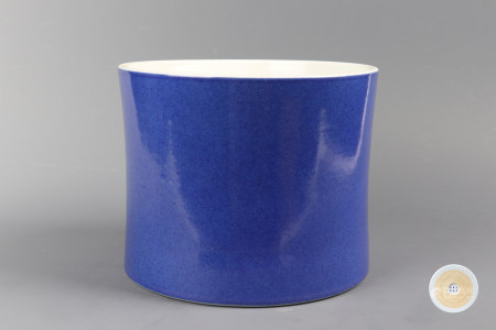 Blue Glazed Porcelain Brush Pot