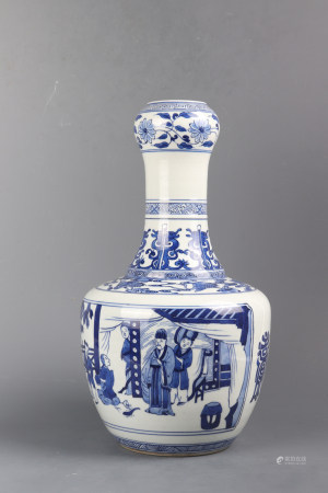 Blue And White Porcelain Bottle