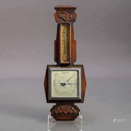 BAROMETER WITH THERMOMETER