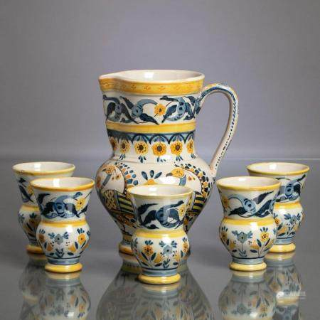 JUG AND FIVE CUPS SET
