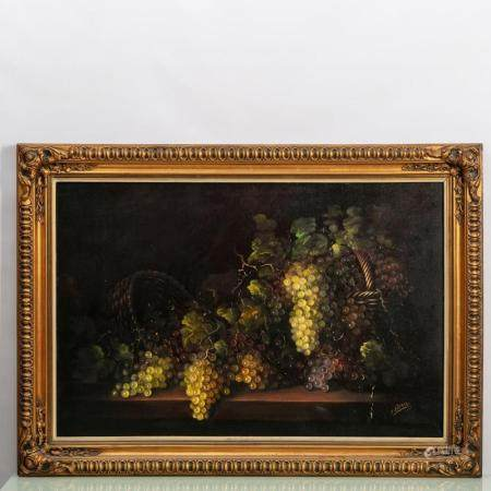 STILL LIFE - BASKETS AND GRAPES