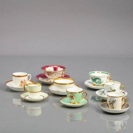 EIGHT MISCELLANEOUS CUPS FROM VISTA ALEGRE