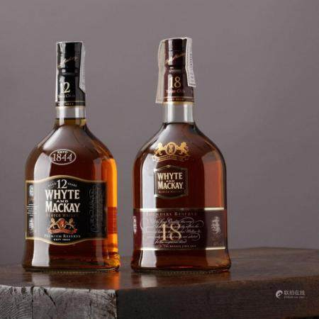 WHISKY WHYTE AND MACKAY 18 YEARS AND 12 YEARS