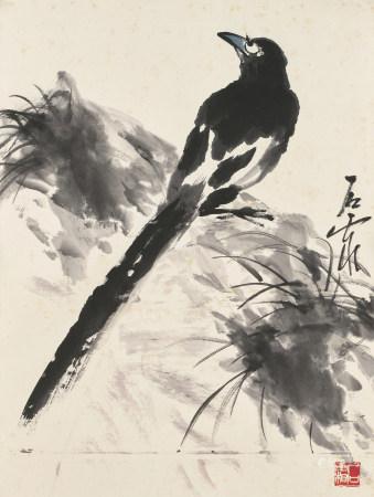 石霜(近現代) 喜鵲圖