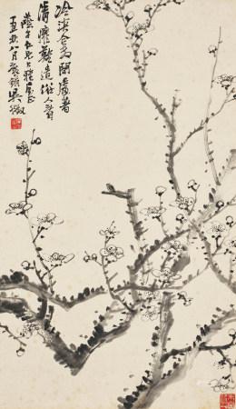 吳徵(1878-1949)墨梅圖