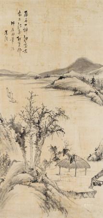 蓮溪(1816-1884)溪岸歸棹圖