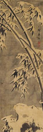 張應石(生卒年不詳)雪竹圖