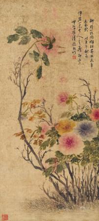 羅清(清)牡丹圖