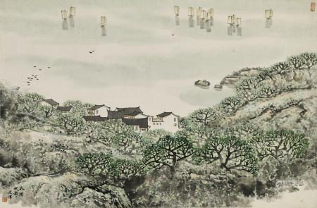 宋文治(1919 - 1999)太湖帆影