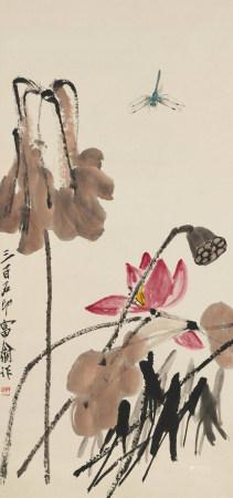齊白石(1863-1957) 秋荷圖