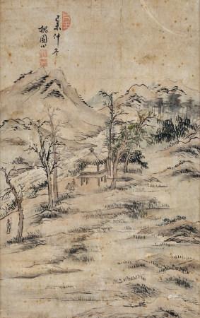 槐園(生卒年不詳)  山居圖