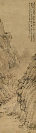 黃易(1744-1802) 深山遊走圖