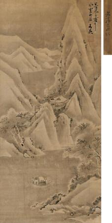 谷文晁(1763-1841)雪夜訪戴圖