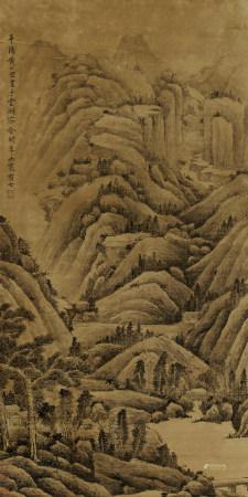 黃公望(款)秋山幽居圖