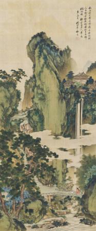 祁 崑 (1901-1944) 高士游山圖