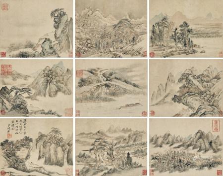 王時敏(1592-1680) 仿宋人小品九幁