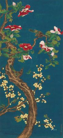 蔣廷錫 (1669-1732) 茶花富貴圖