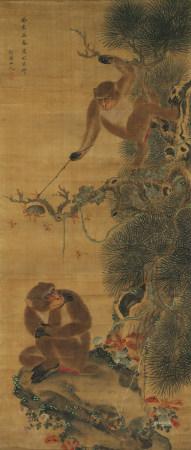 華喦 (1682-1756) 雙猴圖