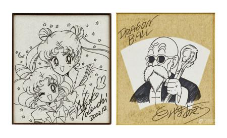 漫畫「美少女戰士」「龍珠」手繪