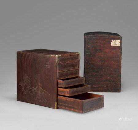 木雕羅漢紋箱