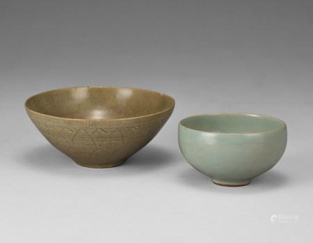 青釉碗兩件
