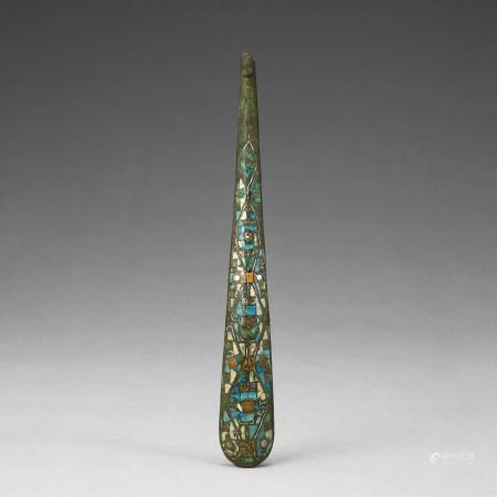 戰國 青銅嵌松石帶鉤