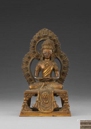 清代 銅鎏金菩薩坐像