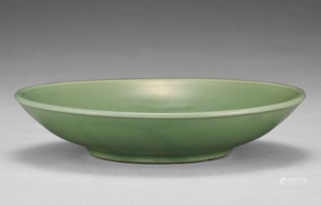清代 龍泉窯青釉印花盤