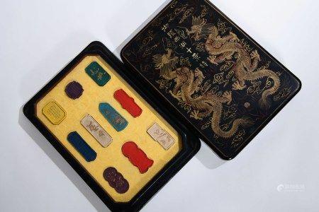 A Set of Ink Blocks