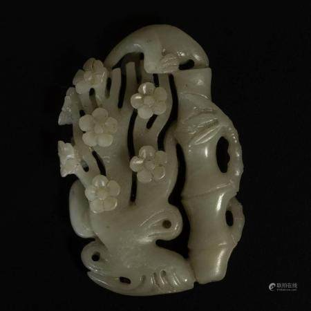 A Celadon jade group, China, Qing Dynasty