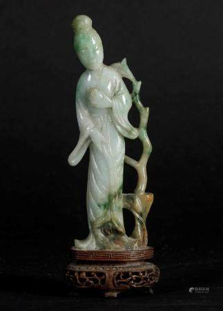 A jadeite figure, China, early 1900s