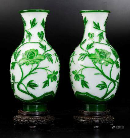 Two glass vases, China, 1900s