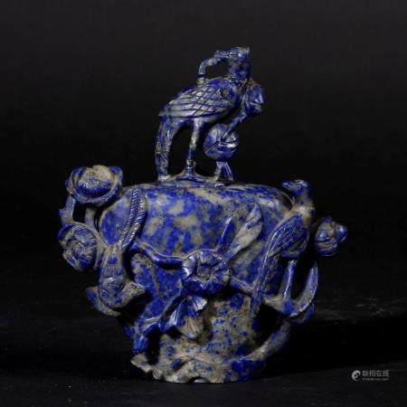 A lapis lazuli vase, China, early 1900s