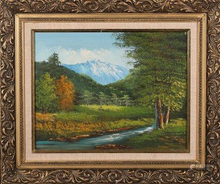 油畫 森之景 框