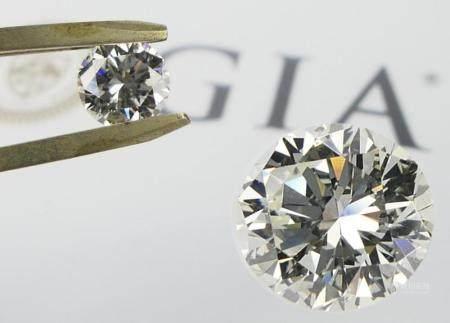 GIA CERTIFIED 2.02 CT ROUND BRILLIANT DIAMOND SI1