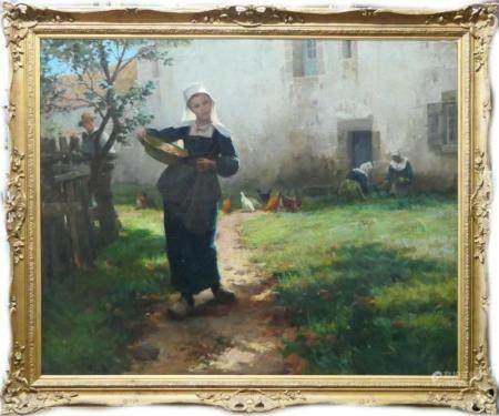 MARIA D WEBB ROBINSON 1840-1920 O/C SIGNED