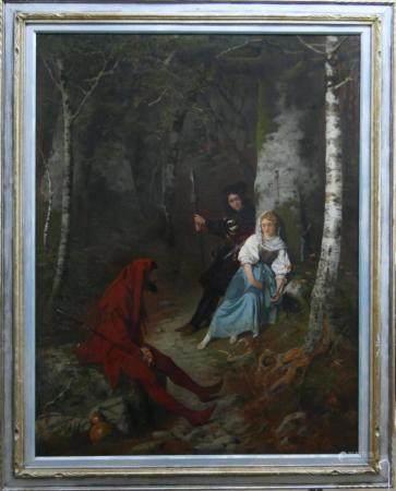 CARL BOPPO (1840-1928 GERMAN) OIL PAINTING