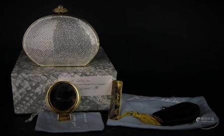 JUDITH LEIBER CRYSTAL CLUTCH WITH BOX