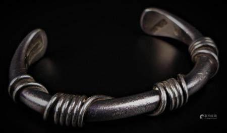 NAVAJO HEAVY STERLING BRACELET BY SPENCER
