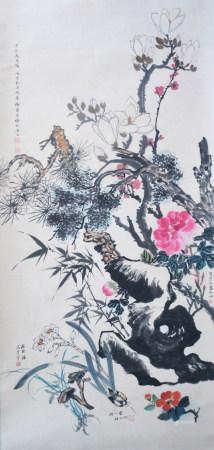 近現代 四大名旦 花卉