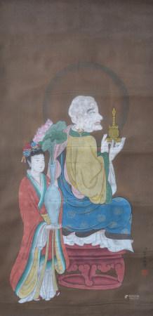 清代 金昆 佛像(文物商店舊藏、帶火漆)