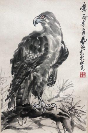 近現代 黃胄 雄鷹
