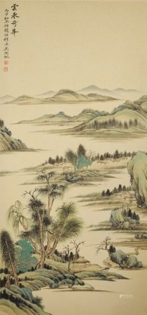近現代 吳湖帆 山水