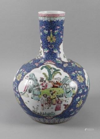 Große Vase Famille rose