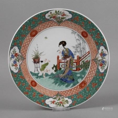 Meissen Wandteller mit Chinoiserie
