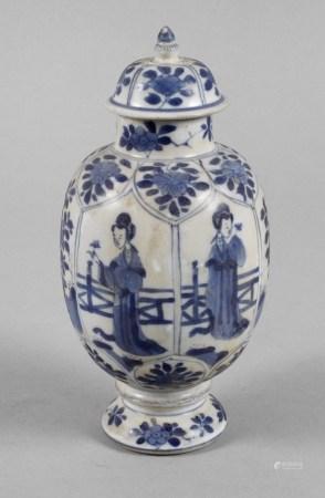Deckelvase Kangxi-Zeit